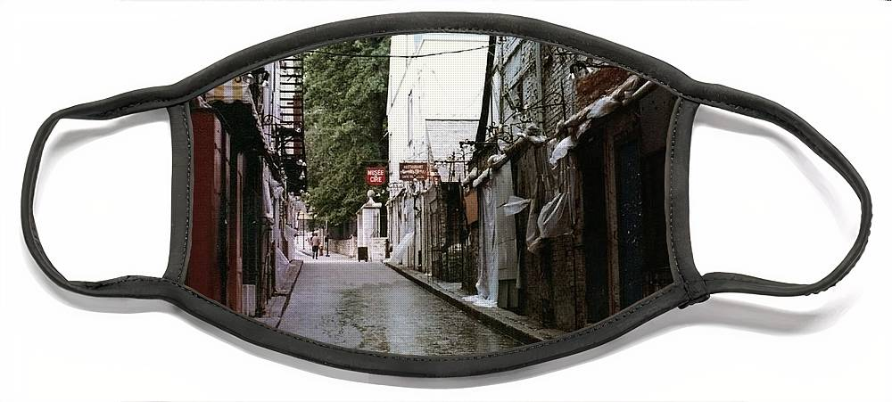 Architecture Face Mask featuring the photograph Alley In Old Quebec by Cedric Hampton