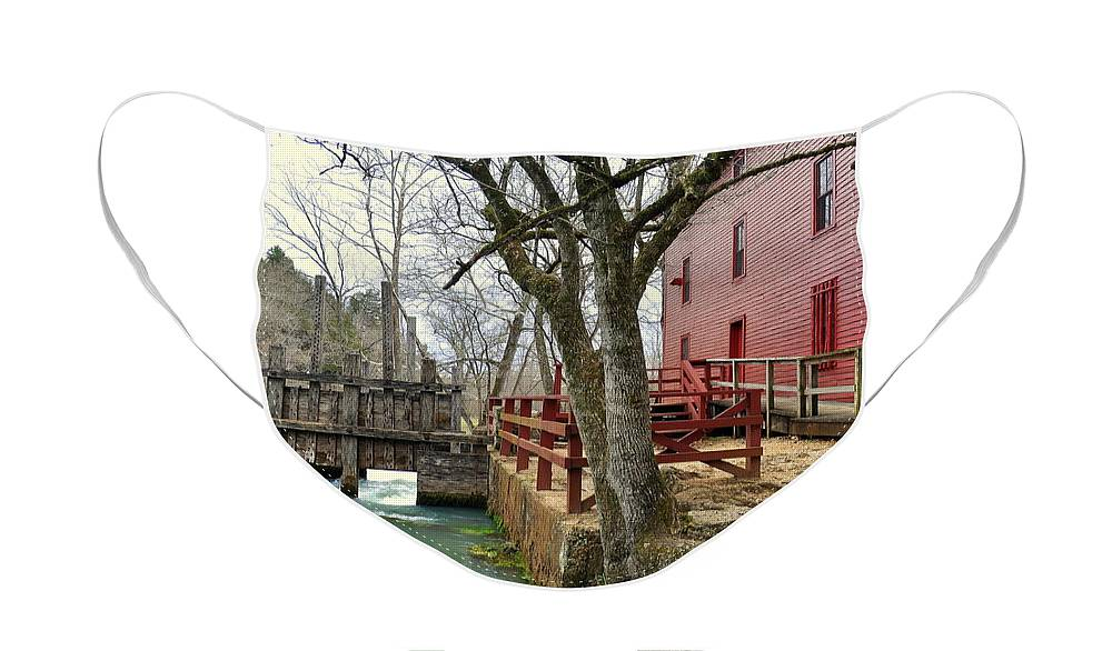 Mill Face Mask featuring the photograph Alley Spring Mill 34 by Marty Koch