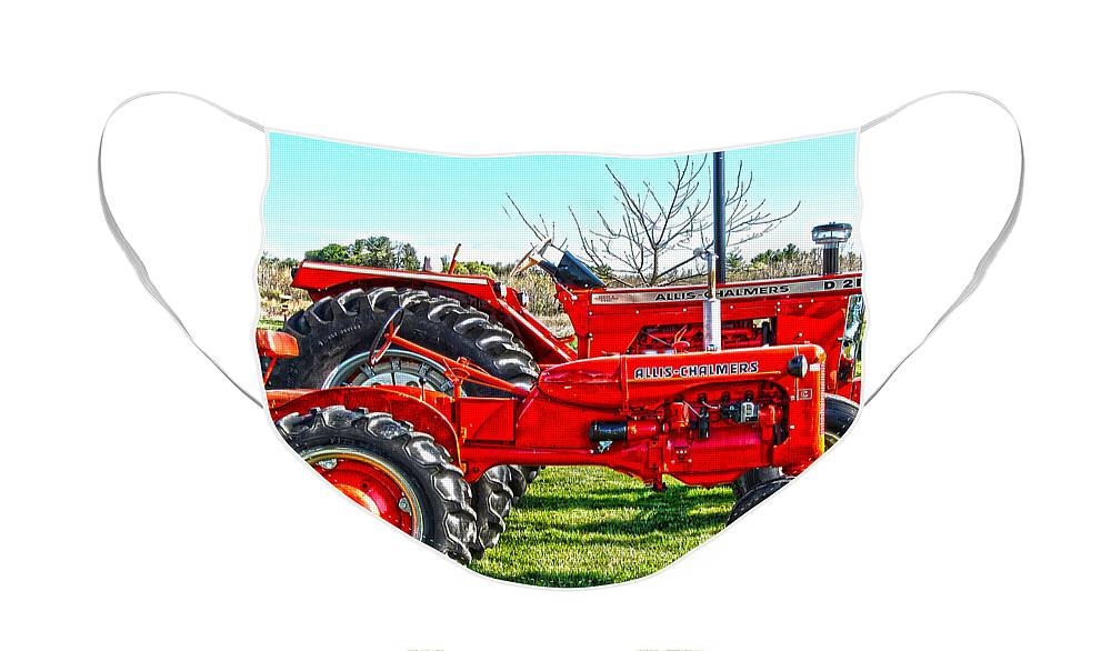 Diane Berry Face Mask featuring the photograph Allis-Chalmers Tractors by Diane E Berry