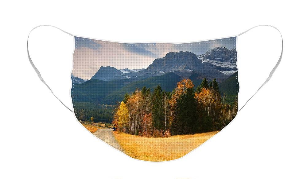 Rockies Face Mask featuring the photograph Autumn in the Rockies by Tara Turner