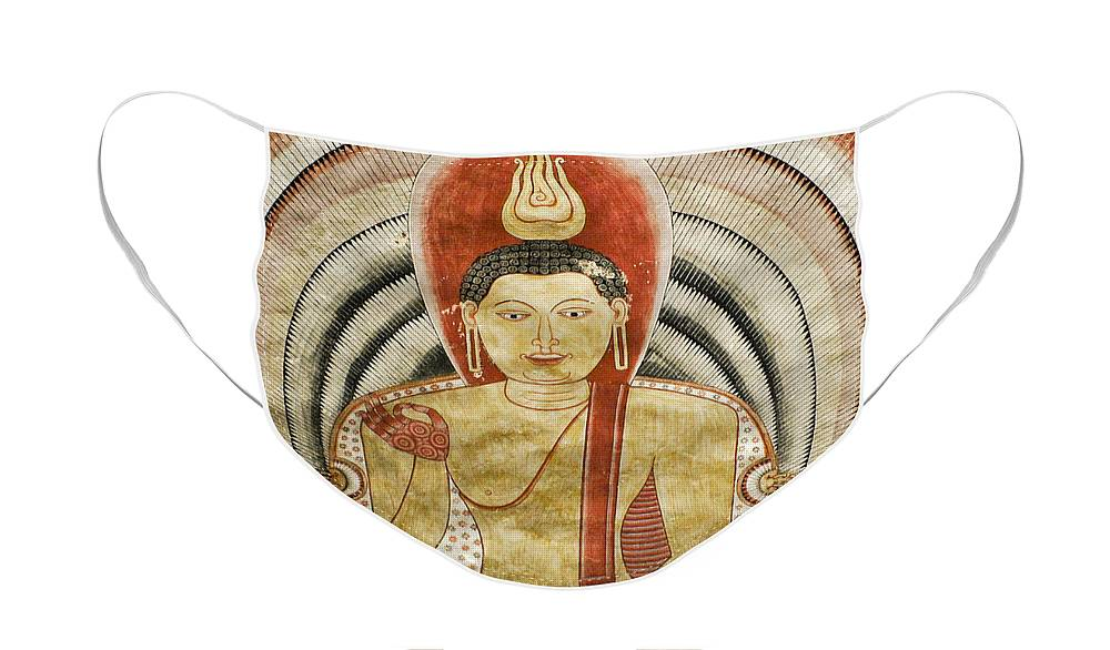 Asia Face Mask featuring the photograph Buddha Painting in Sri Lanka by Michele Burgess