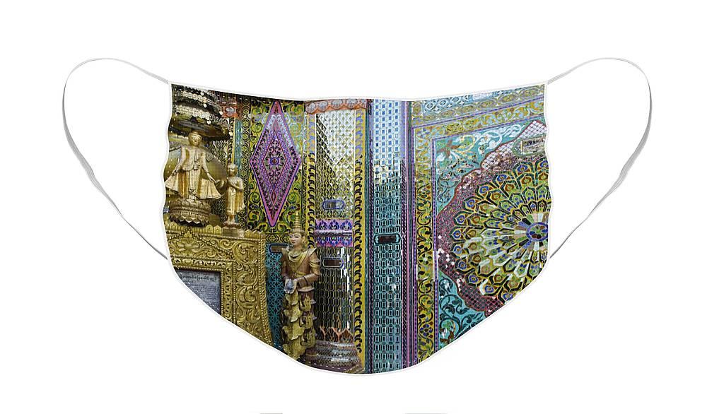 Buddha Face Mask featuring the photograph Buddhist Mosaic by Michele Burgess