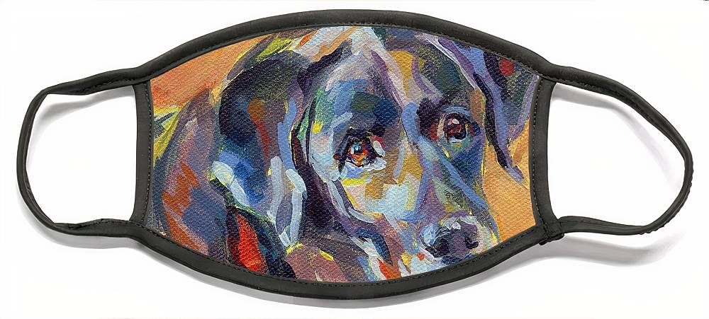 Pet Portrait Face Mask featuring the painting Dear Ole Annie by Kimberly Santini