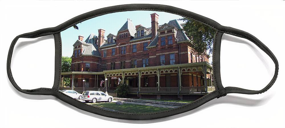 Hotel Face Mask featuring the photograph Hotel Florence Chicago Illinois by Cedric Hampton