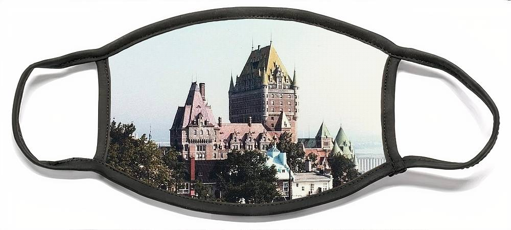Chateau Photograph Face Mask featuring the photograph Hotel Frontenac Quebec Canada by Cedric Hampton