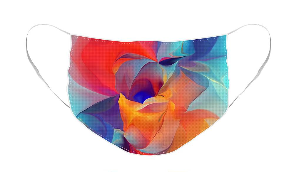 Fine Art Face Mask featuring the digital art I Am So Glad by David Lane