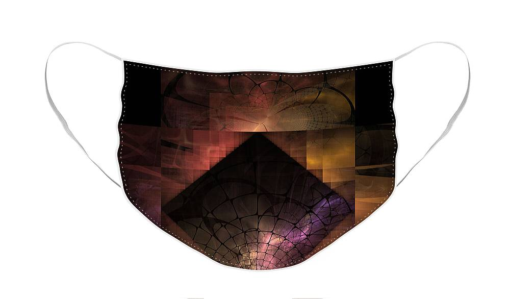 Spiritual Face Mask featuring the digital art Light Of The World by Nirvana Blues