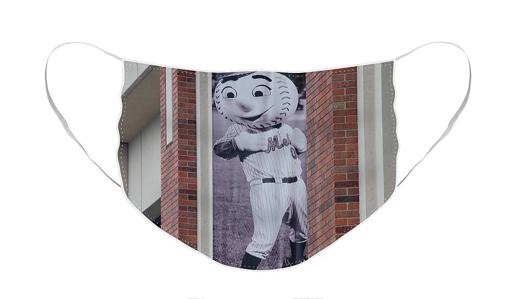 Shea Stadium Face Mask featuring the photograph Mr Met by Rob Hans