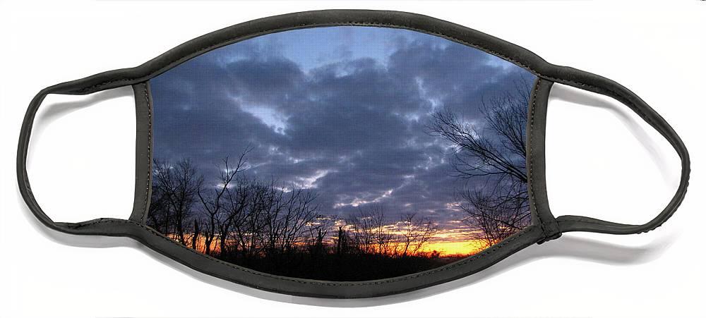Landscape Face Mask featuring the photograph November Sunrise by Cedric Hampton