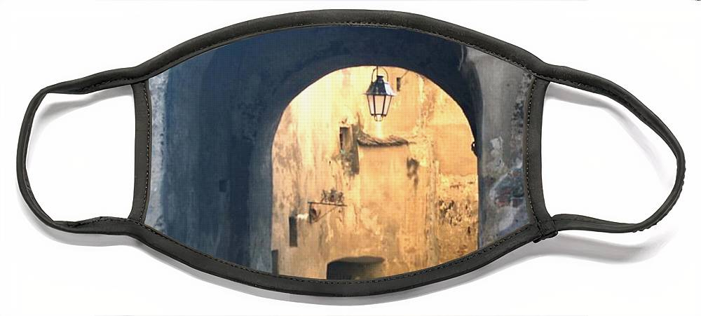 Sighisoara Face Mask featuring the photograph Old town gate 1 by Amalia Suruceanu