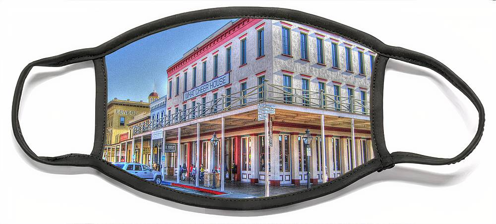 Street Corner Face Mask featuring the photograph Old Towne Sacramento by Barry Jones