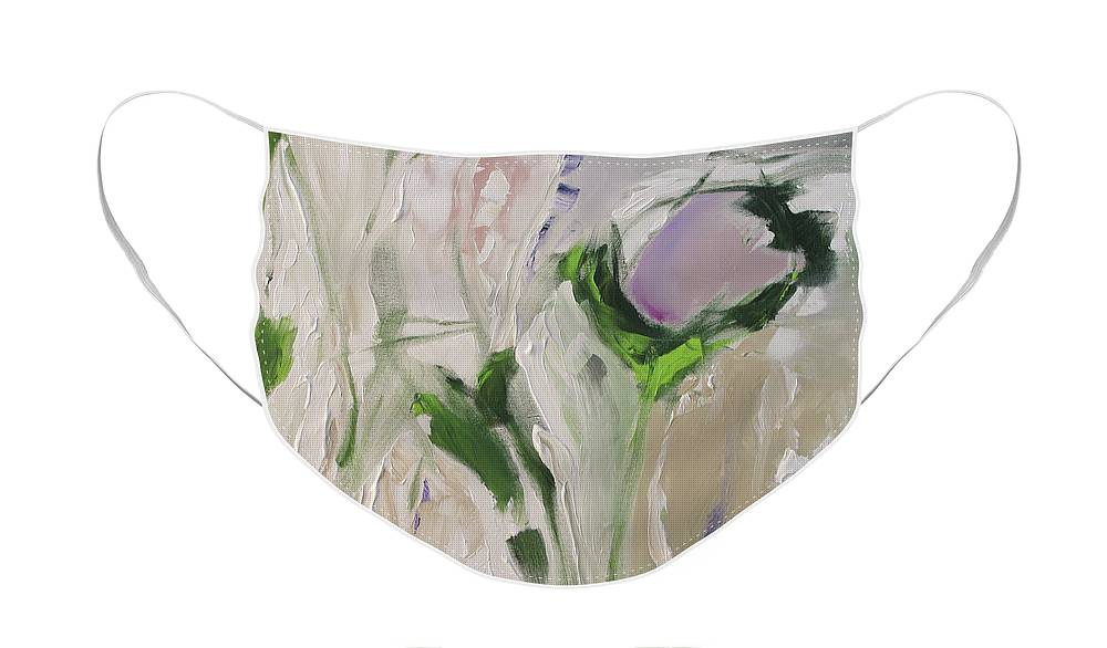 Painting Face Mask featuring the painting Peony by Linda Monfort