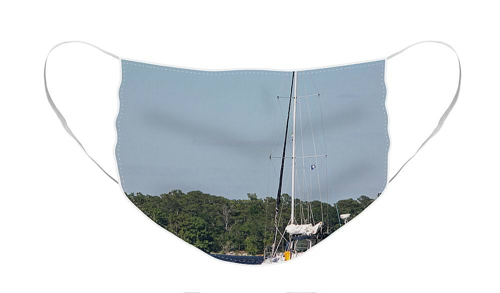 Sail Face Mask featuring the photograph Perfect Day for Sailing by Suzanne Gaff