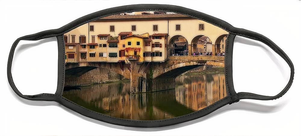 Ponte Vecchio Face Mask featuring the photograph Ponte Vecchio by Steven Sparks