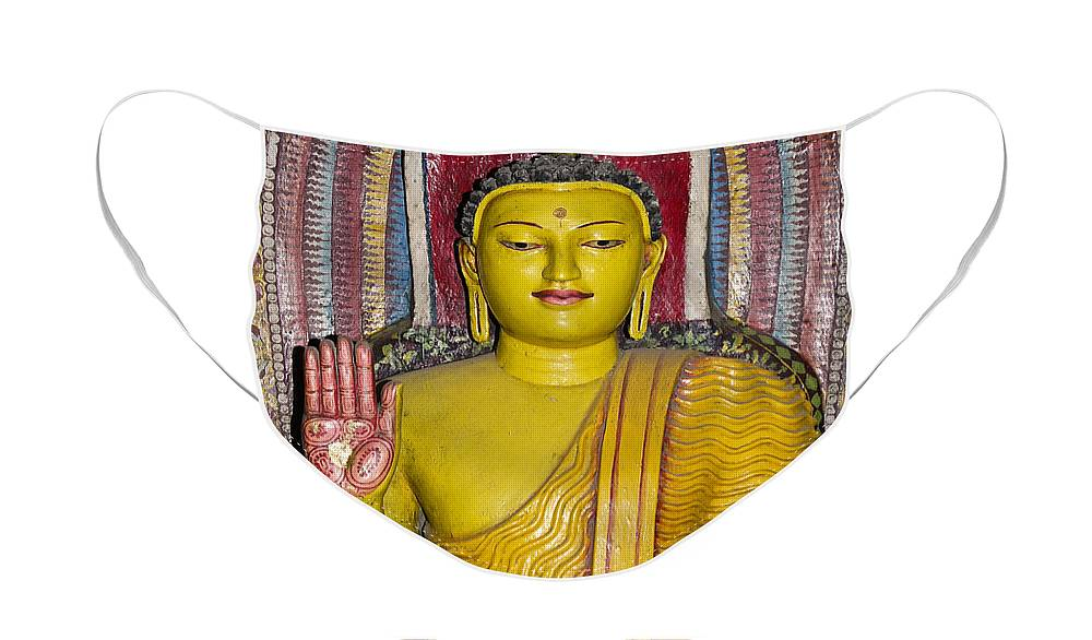 Asia Face Mask featuring the photograph Rainbow Buddha by Michele Burgess