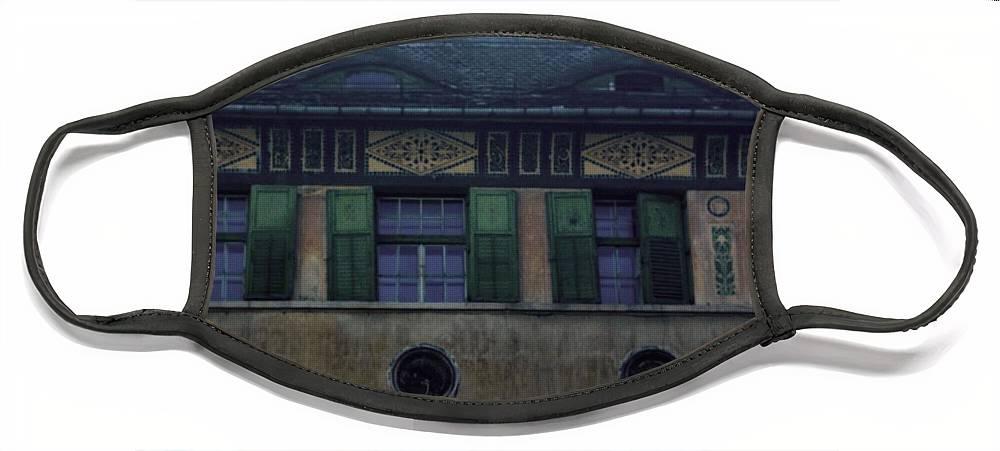 Sighisoara Face Mask featuring the photograph Sighisoara Old Town Eyes by Amalia Suruceanu