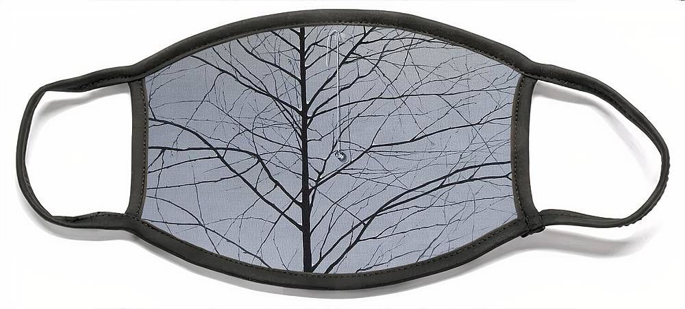 Winter Trees Face Mask featuring the painting Sorrow by Roger Calle