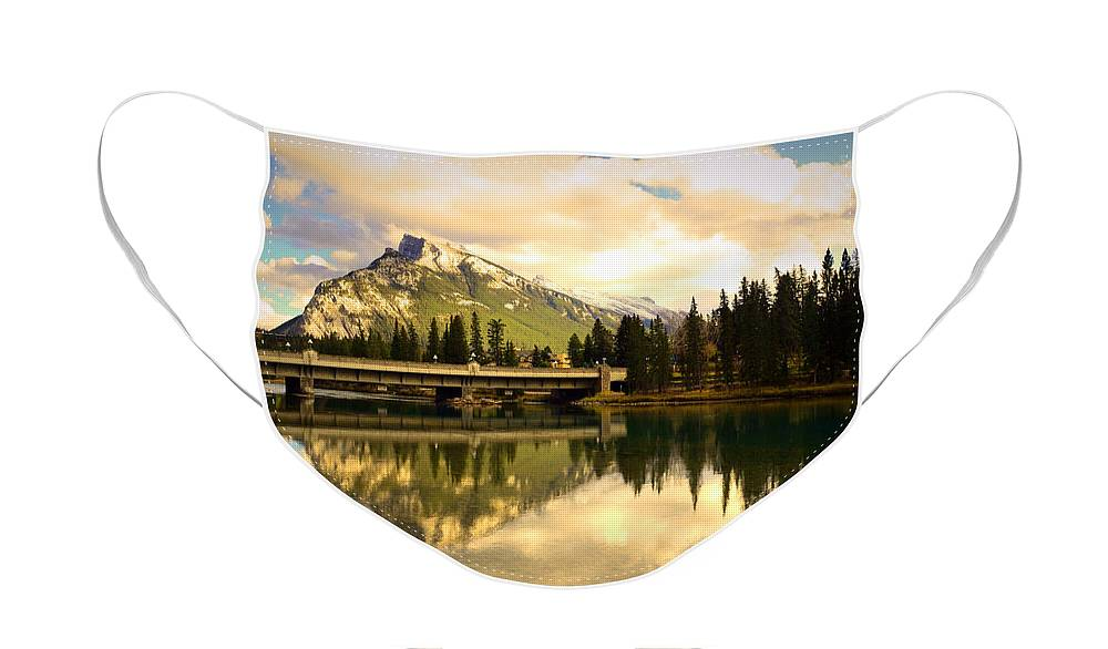 Banff Face Mask featuring the photograph The Banff Bridge Reflected by Tara Turner