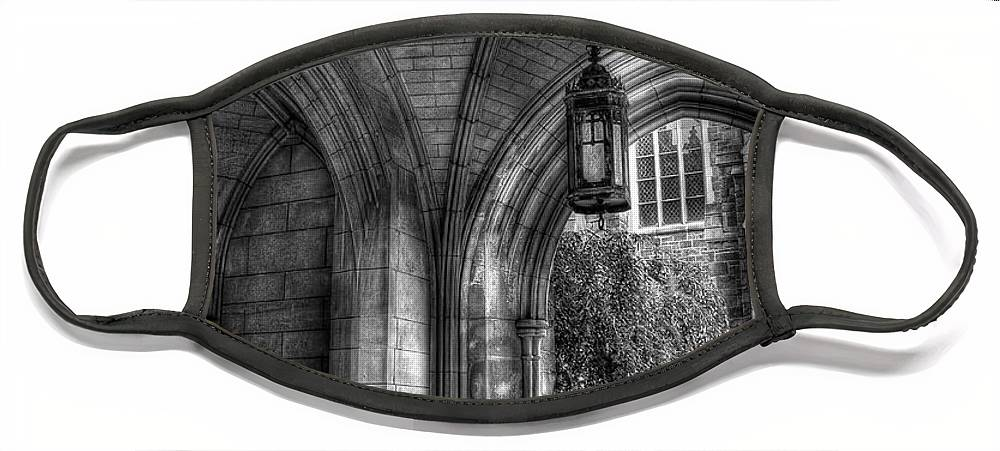 Hdr Face Mask featuring the photograph Under The Bell Tower by Brian Fisher