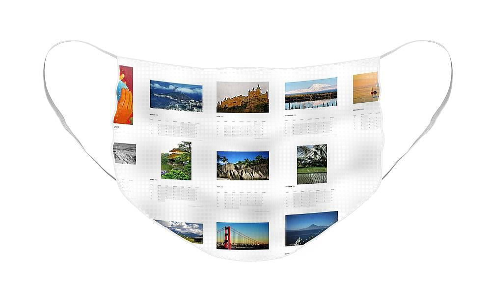 Calendar Face Mask featuring the photograph What a Wonderful World Calendar 2012 by Juergen Weiss