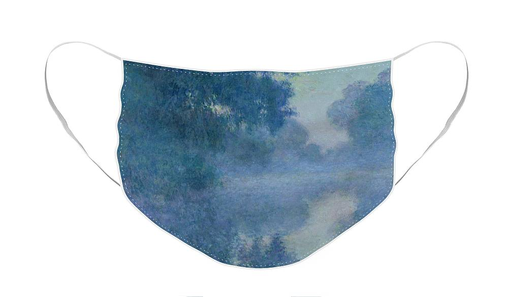 Impressionist Face Mask featuring the painting Branch of the Seine near Giverny by Claude Monet