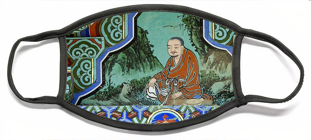 Buddha Face Mask featuring the photograph Buddhist Temple Art by Michele Burgess