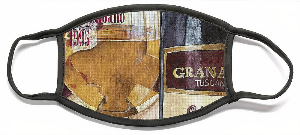 Wine Face Mask featuring the painting Chianti Rufina by Debbie DeWitt