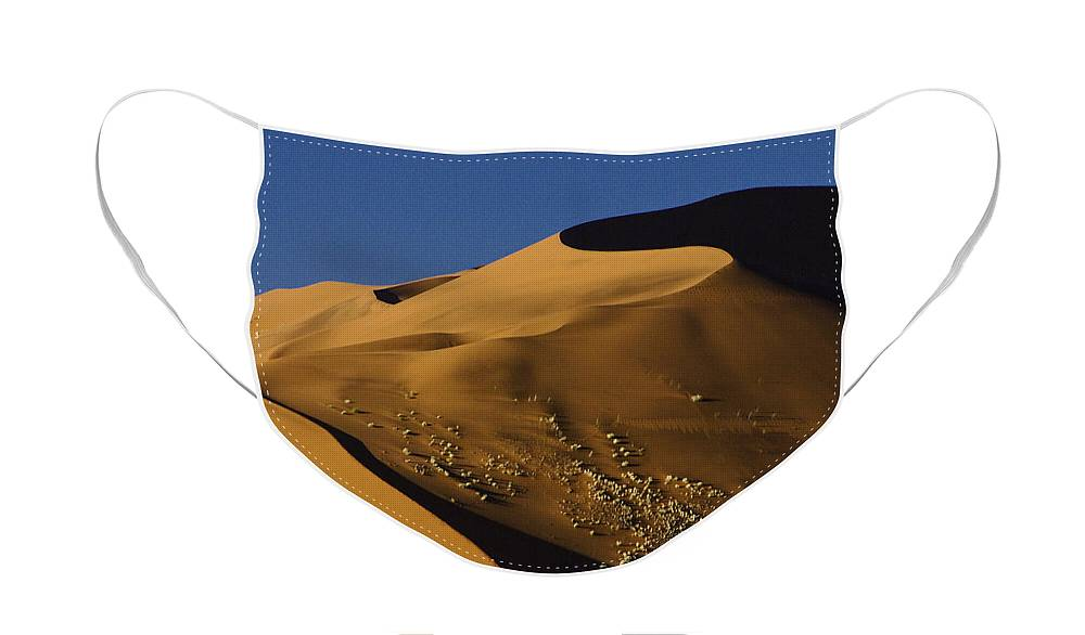 Africa Face Mask featuring the photograph Contours of Sossusvlei by Michele Burgess