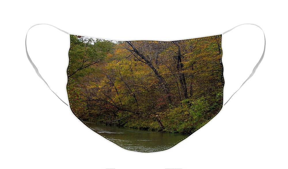 Current River Face Mask featuring the photograph Current river 8 by Marty Koch