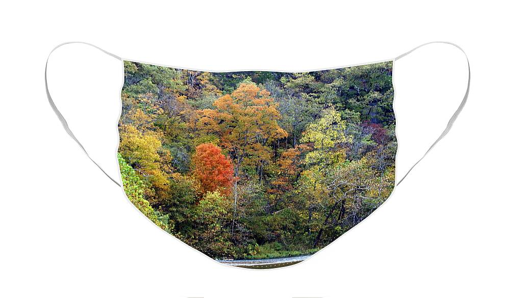 Rivers Face Mask featuring the photograph Current River Fall by Marty Koch
