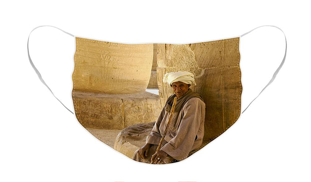 Egypt Face Mask featuring the photograph Egyptian Caretaker by Michele Burgess