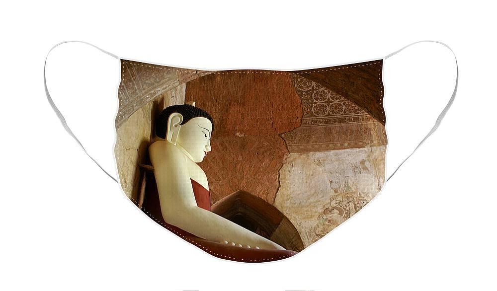 Buddha Face Mask featuring the photograph Geometric Buddha by Michele Burgess