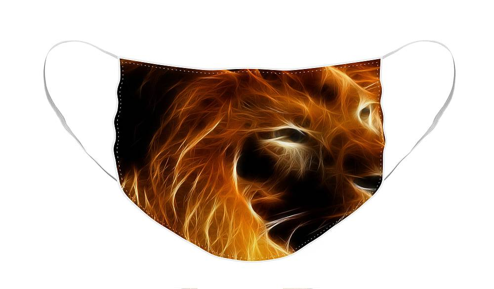 Wingsdomain Face Mask featuring the photograph Lord Of The Jungle by Wingsdomain Art and Photography