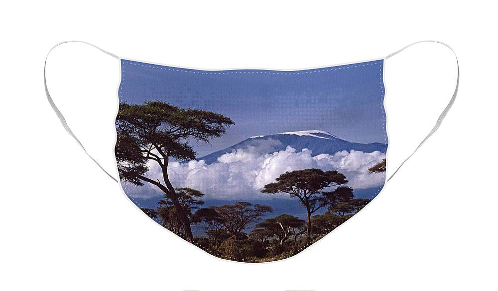 Africa Face Mask featuring the photograph Majestic Mount Kilimanjaro by Michele Burgess