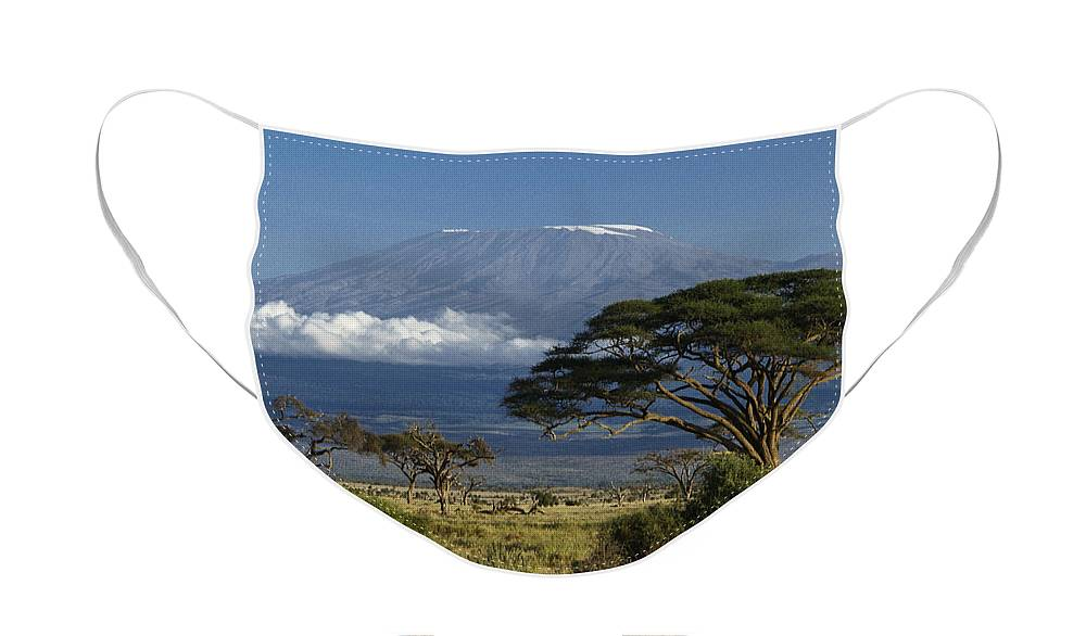 Africa Face Mask featuring the photograph Mount Kilimanjaro by Michele Burgess