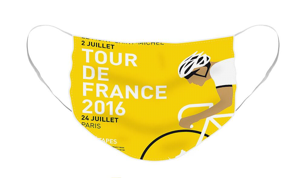 2016 Face Mask featuring the digital art My Tour De France Minimal Poster 2016 by Chungkong Art