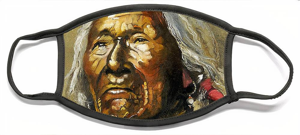 Southwest Art Face Mask featuring the painting Painted sands of time by J W Baker