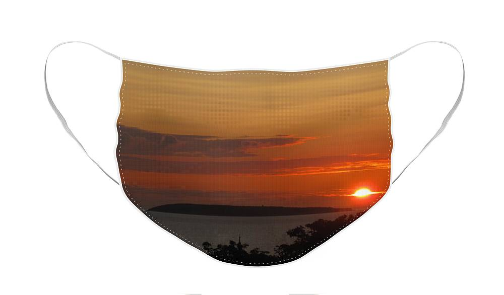 Islands Face Mask featuring the photograph Puffin island by Christopher Rowlands