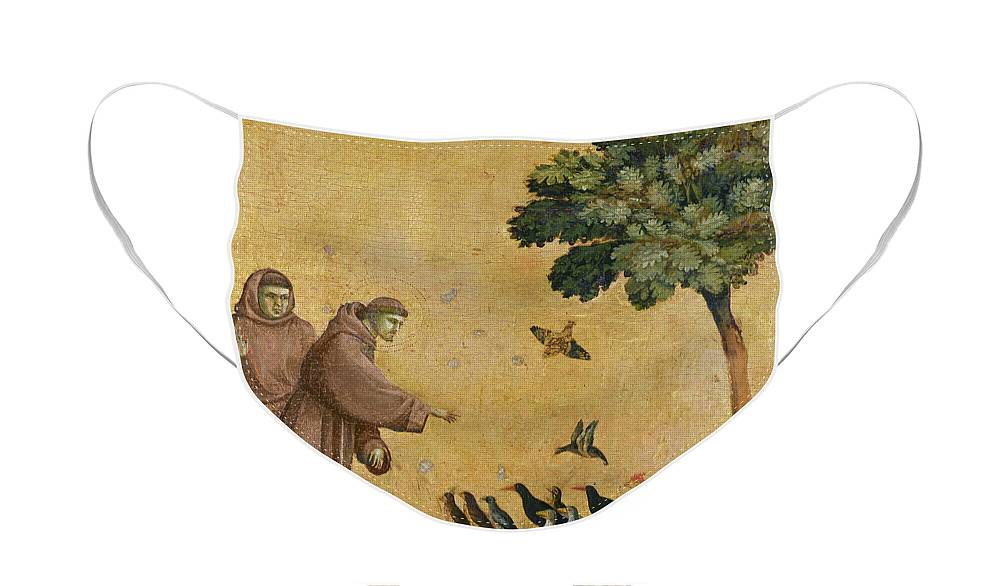 Francis Face Mask featuring the painting Saint Francis of Assisi preaching to the birds by Giotto di Bondone