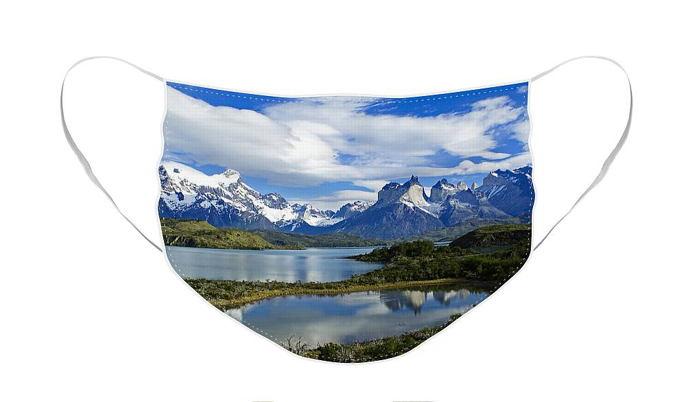 Patagonia Face Mask featuring the photograph Springtime in Patagonia by Michele Burgess