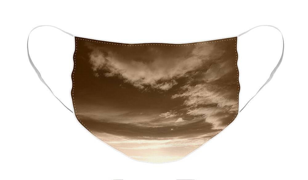 Sunset Face Mask featuring the photograph Sunset And Clouds by Rob Hans