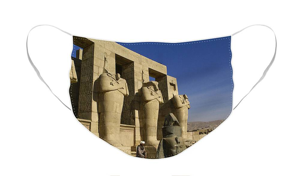 Egypt Face Mask featuring the photograph The Ramesseum by Michele Burgess