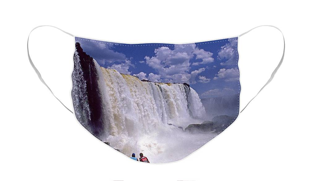 South America Face Mask featuring the photograph Thundering Water by Michele Burgess