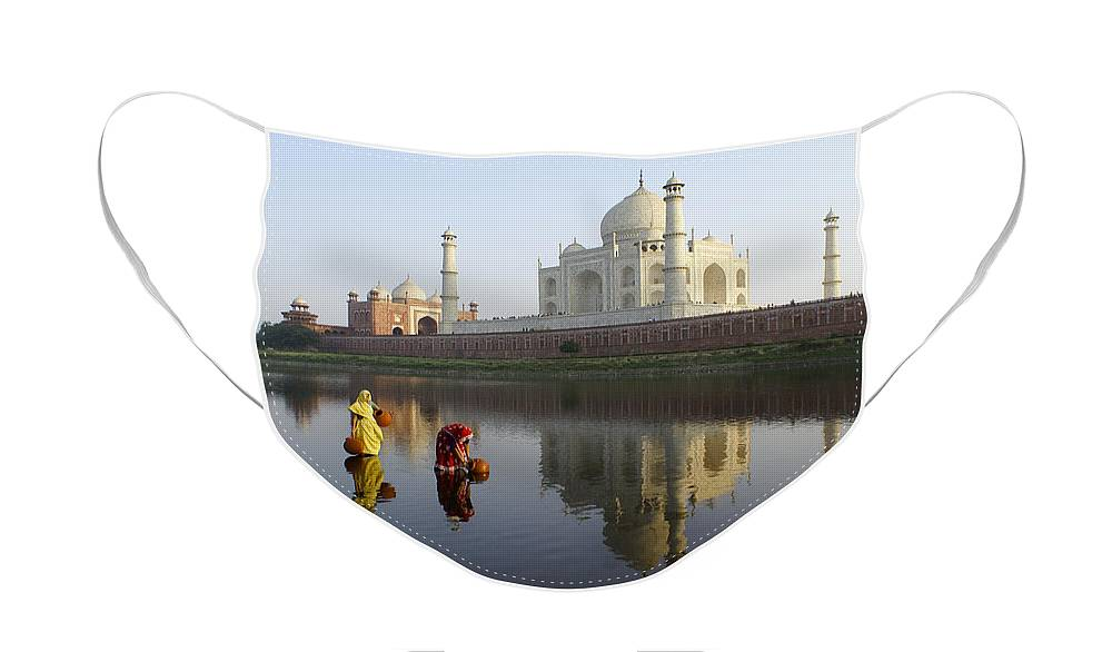Taj Mahal Face Mask featuring the photograph Timeless Taj Mahal by Michele Burgess