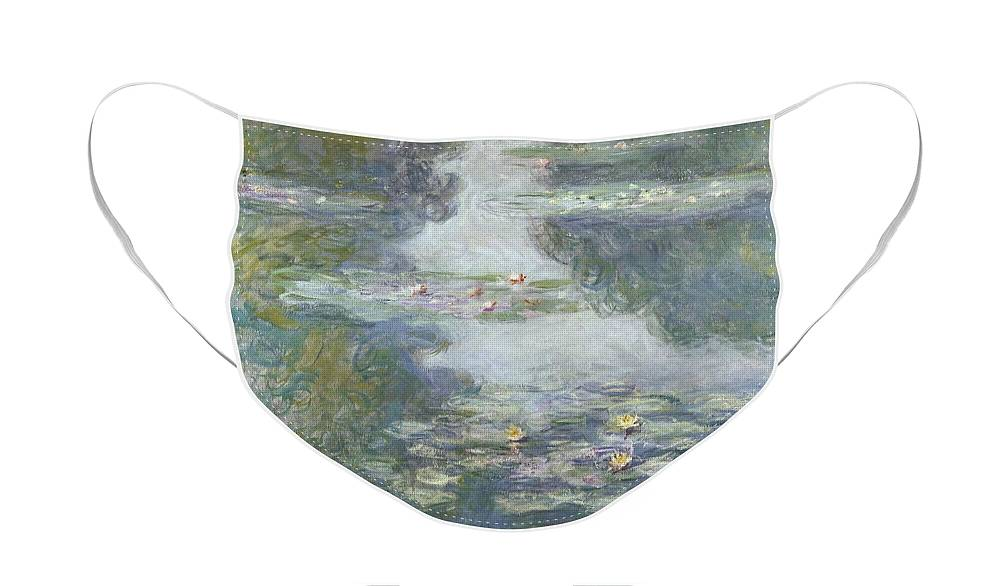 Pads Face Mask featuring the painting Waterlilies by Claude Monet