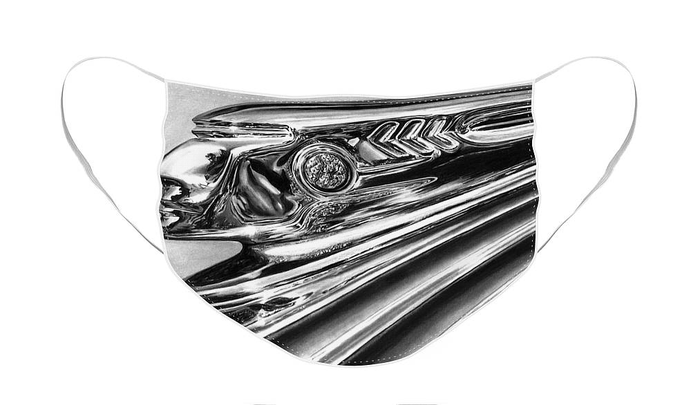 1937 Pontiac Chieftain Abstract Face Mask featuring the drawing 1937 Pontiac Chieftain Abstract by Peter Piatt