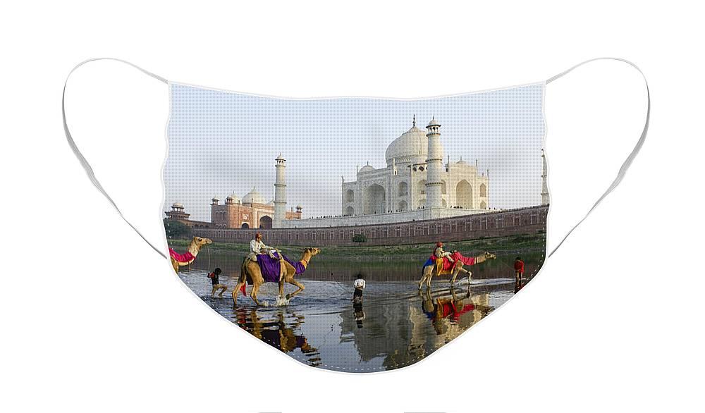 Taj Mahal Face Mask featuring the photograph India's Taj Mahal by Michele Burgess