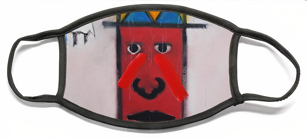 Native American Face Mask featuring the painting Winter by Charles Stuart