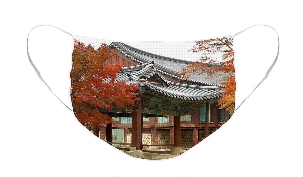 Korea Face Mask featuring the photograph Seonamsa in Autumn by Michele Burgess