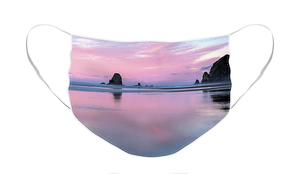 Cannon Beach Face Mask featuring the photograph Cannon Beach by Rich Leighton